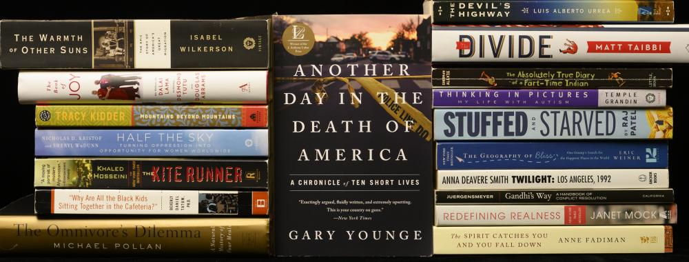 Another Day in the Death of America by Gary Younge, 2019-2020 CCBP featured selection